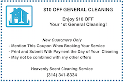 house cleaning and maid service coupon st. louis mo