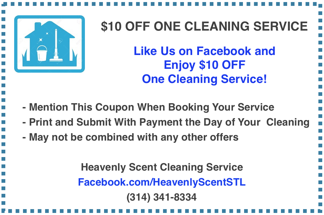 Heavenly Scent Cleaning Service Coupon St. Louis MO