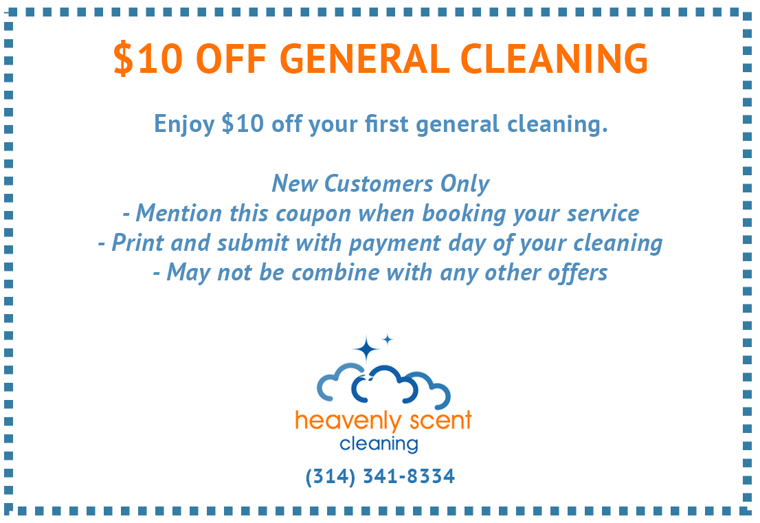 $10 Coupon Maid Service St. Louis MO